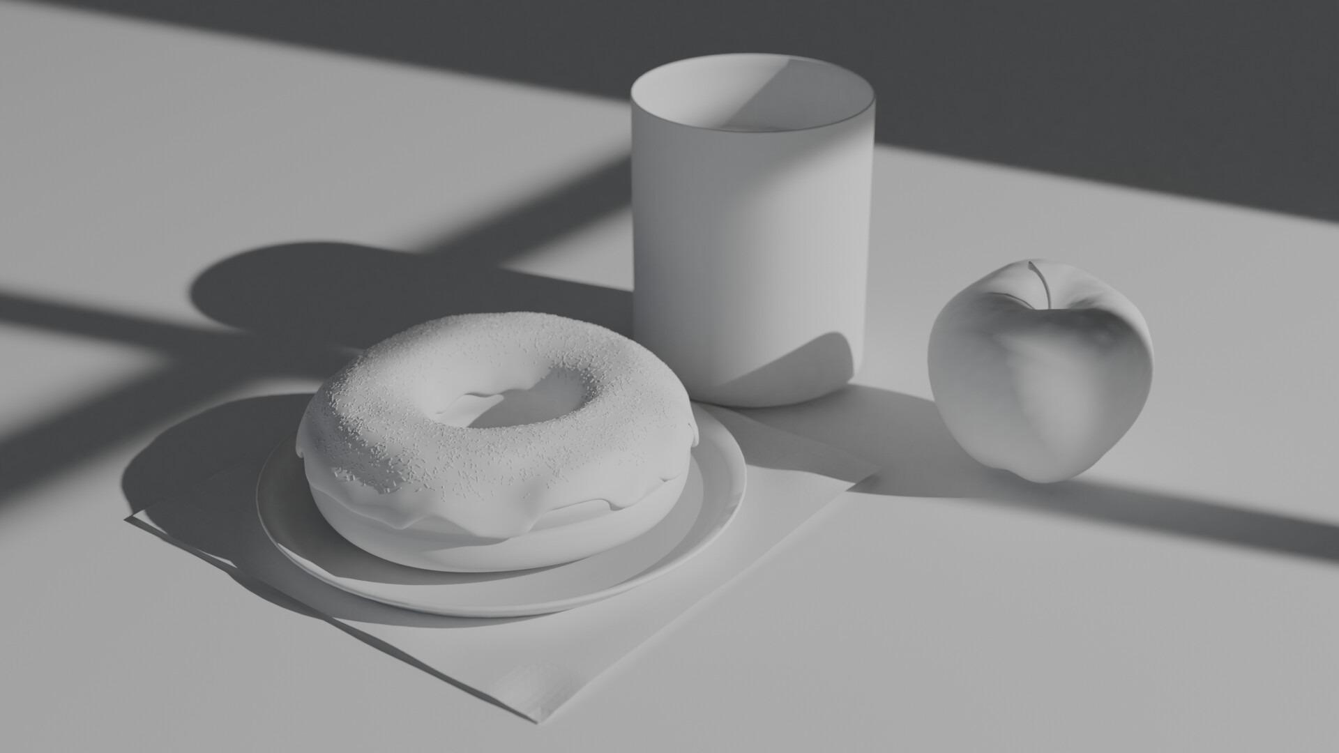 Donuts Render White