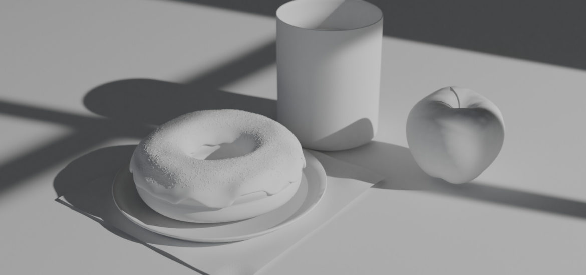 Donuts Render White